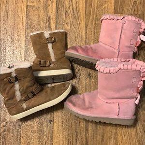 Girls Ugg boots (2) sz 3